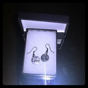 Nickel free Love and Heart earrings